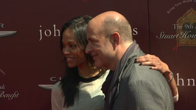 Zoe Saldana John Varvatos at 9th Annual John Varvatos Stuart House Benefit on 3/11/12 in Los Angeles CA