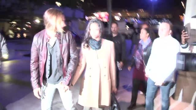 Zoe Saldana Marco Perego arrive at Beyonce Mrs Carter Show Staples LA Celebrity Sightings in Los Angeles CA on 12/03/13