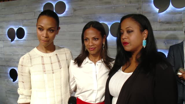 INTERVIEW Zoe Saldana Mariel Saldana Cisely Saldana on what brings her out what she love about go90 and her favorite feature of the app at go90 gives...