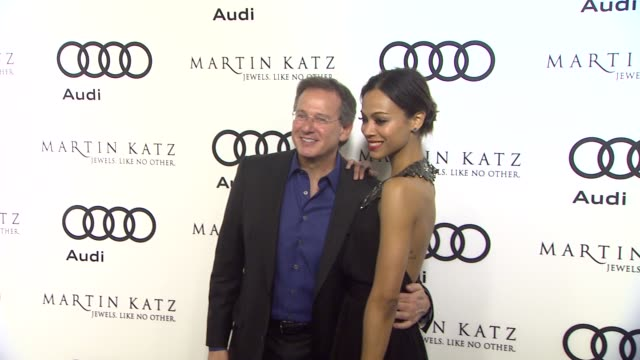 Zoe Saldana Martin Katz at the Audi And Martin Katz Celebrate The 2012 Golden Globe Awards in West Hollywood CA