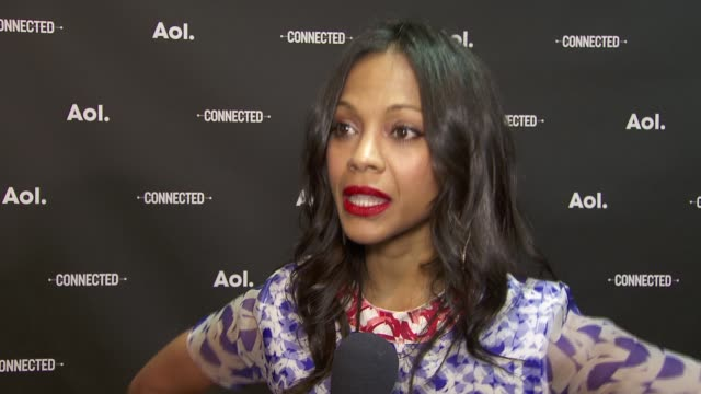 INTERVIEW Zoe Saldana on how people thought it was the end of the world when MTV went live and yet it wasn't at 2014 AOL NewFronts at the Duggal...
