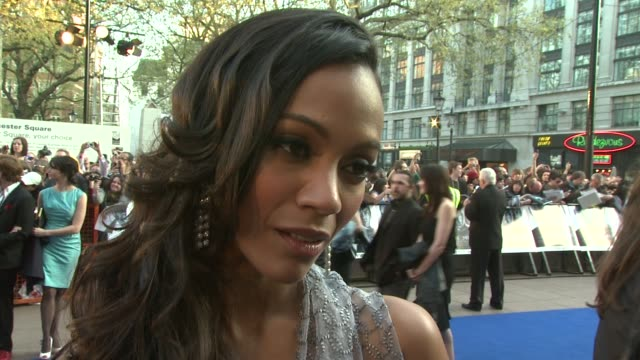 Zoe Saldana on how she's enjoyed hanging out with the male cast on their premiere tour at the Star Trek UK Premiere at London