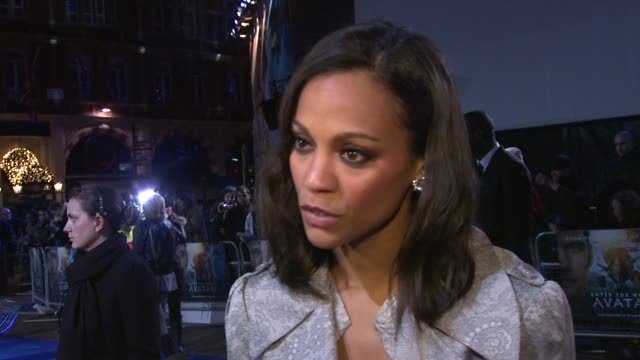 zoe saldana on what she's wearing tonight, working with james cameron and jj abrams - two of the most iconic makers of science fiction, working with... - science fiction film stock videos & royalty-free footage