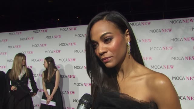 Zoe Saldana on why she wanted to be a part of the evening if she's an avid art collector what she's most looking forward to about Lady Gaga's...