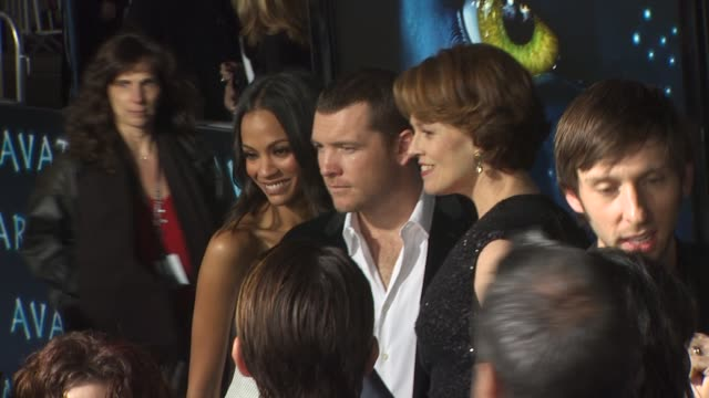 Zoe Saldana Sigourney Weaver Joel David Moore at the 'Avatar' Premiere at Hollywood CA