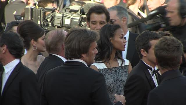 Zoe Saldana Walks the red carpet of 'Blood Ties' in Cannes 2013