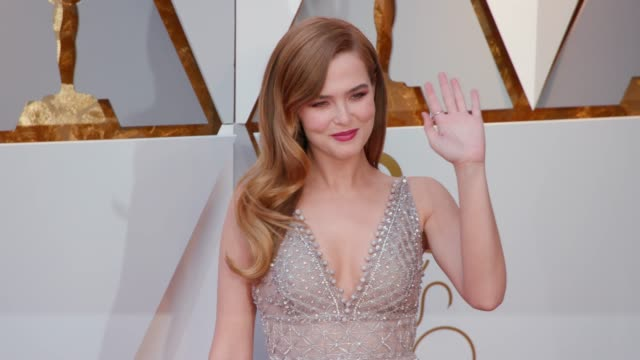 Zoey Deutch at 90th Academy Awards Arrivals 4K Footage at Dolby Theatre on March 04 2018 in Hollywood California