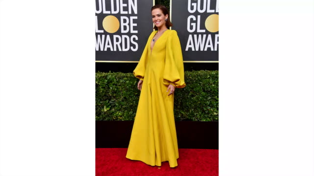 zoey deutch attends the 77th annual golden globe awards at the beverly hilton hotel on january 05, 2020 in beverly hills, california. - golden globe awards stock videos & royalty-free footage