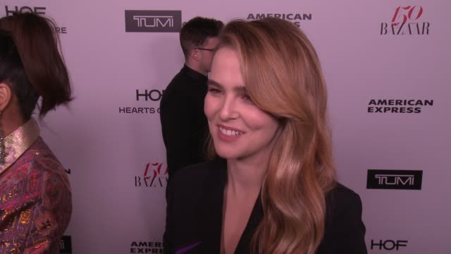 INTERVIEW Zoey Deutch on what brings her out what being fashionable/stylish means to her and who her style icons are at the Harper's BAZAAR...