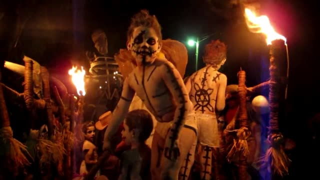 Zombies and ghouls filled the streets of Tonacatepeque El Salvador on November 1st to celebrate Day of the Dead CLEAN Ghouls and zombies on November...