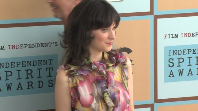 zooey deschanel at the the 21st annual ifp independent spirit awards in santa monica, california on march 4, 2006. - independent feature project stock videos & royalty-free footage