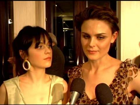 zooey deschannel and emily deschannel on why it is important to each of them to participate in the genesis awards on being allergic to animals and on... - working animals stock videos & royalty-free footage