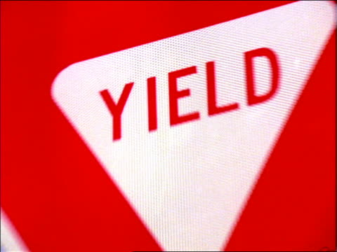 "zoom in close up ""Yield"" sign / New Mexico"