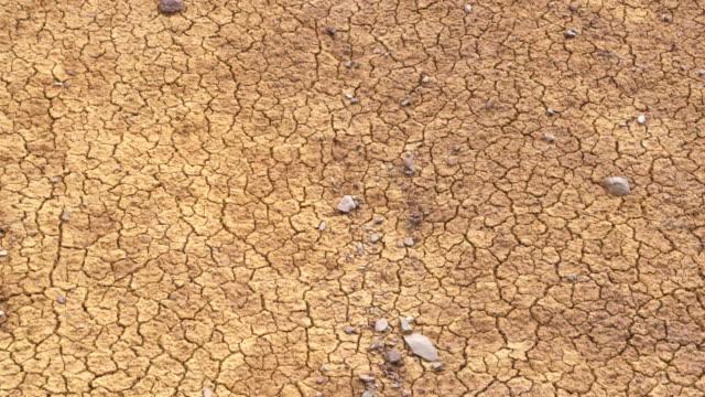 vídeos de stock e filmes b-roll de zoom in. dry cracked earth at ponta de sao lourenco (saint lawrence point). machico, madeira, portugal. - aproximar imagem