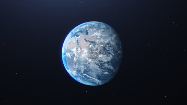 zoom in earth from space - globe stock videos & royalty-free footage