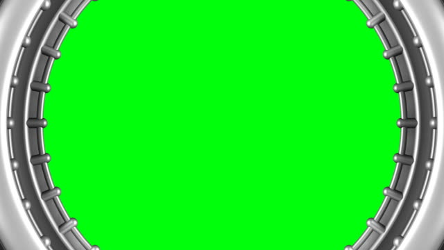 vídeos y material grabado en eventos de stock de (loop alfa) zoom en pantalla verde monitores, sci-fi, futurist - mate técnica de vídeo