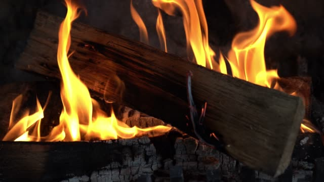 zoom in of cozy fireplace at home - ash stock videos & royalty-free footage