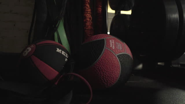 Zoom in of medicine ball