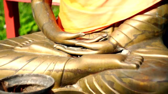 Zooma in på Buddha Lotus ställning