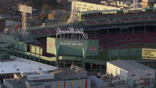 zoom in shot of fenway park stadium, boston, massachusetts, united states of america - boston massachusetts stock videos & royalty-free footage