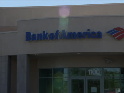 zoom in to exterior of the bank of america bank of america corporation an american multinational banking and financial services corporation is the... - bank of america stock videos & royalty-free footage