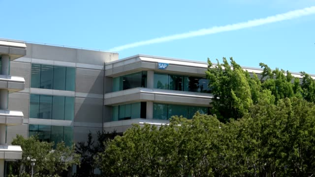 zoom in to logo for software company sap on office at the bishop ranch office park in san ramon california july 2 2019 - ranch logo stock videos & royalty-free footage
