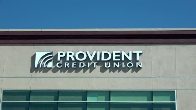 zoom in to sign on facade of provident credit union in san ramon california march 18 2019 - credit union stock videos & royalty-free footage