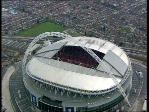 zoom in towards wembley stadium london - arch stock videos & royalty-free footage