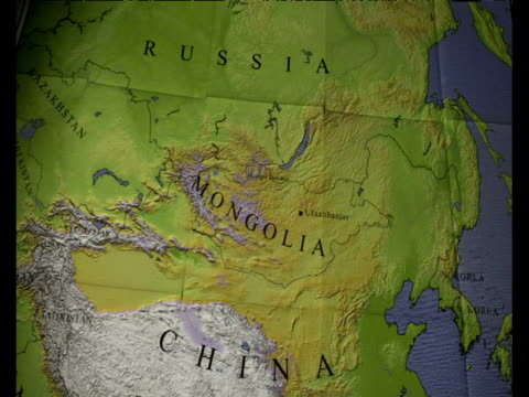 Zoom into Hovsyol Province on map of Asia Northern Mongolia