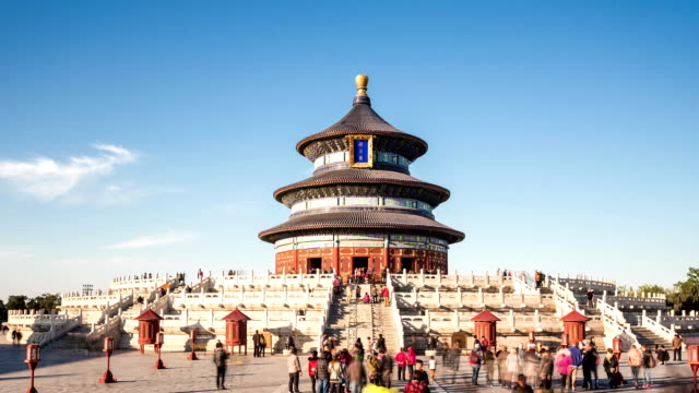 t/l zoom of temple of heaven in beijing, china. - temple of heaven stock videos & royalty-free footage