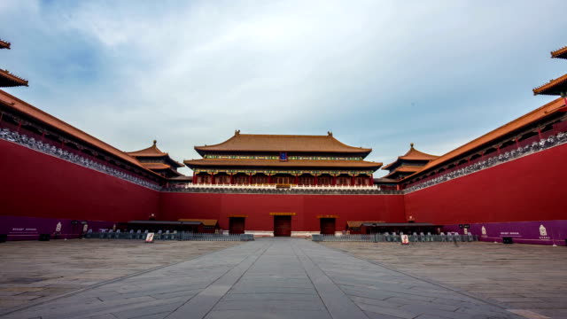 t/l zoom of the forbidden city, beijing, china - tiananmen square stock videos and b-roll footage