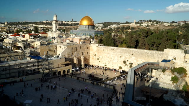 zoom on dome of the rock - old town stock videos & royalty-free footage