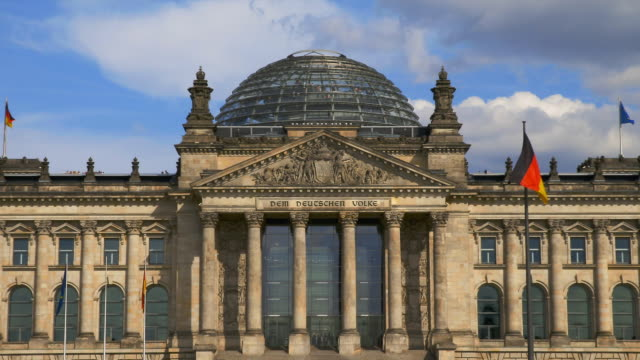 zoom on entrance and inscription of reichstag in berlin. - the reichstag stock videos & royalty-free footage