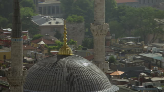 Zoom Out From Blue Mosque In Istanbul