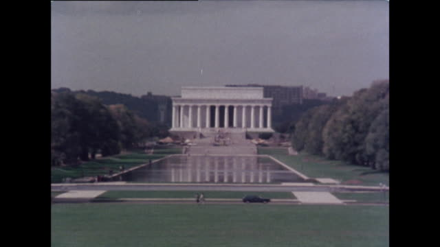 zoom out from lincoln memorial; 1976 - lincoln memorial stock videos & royalty-free footage