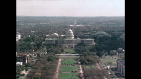 zoom out from u.s. capitol building, washington dc; 1976 - 1976 stock videos & royalty-free footage