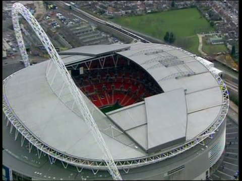Zoom out from Wembley Stadium London