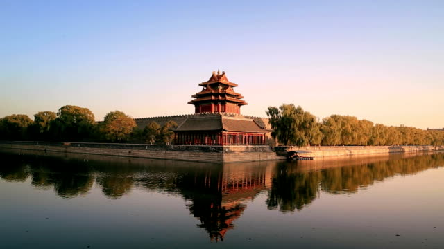 zoom out in the forbidden city in beijing, china - forbidden city stock videos & royalty-free footage