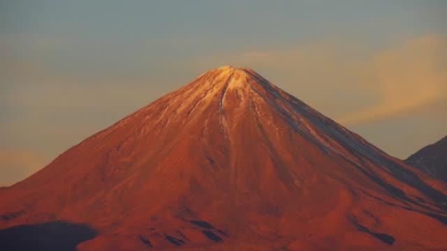 zoom view of licancabur volcano - antofagasta region stock videos and b-roll footage