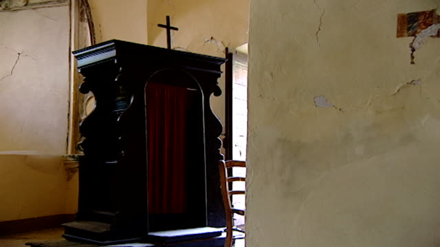 zoom-in of the confessional in the church of saint maron in volperino. during the crusades the relics of saint maron, founder of the maronite order,... - the crusades stock videos & royalty-free footage