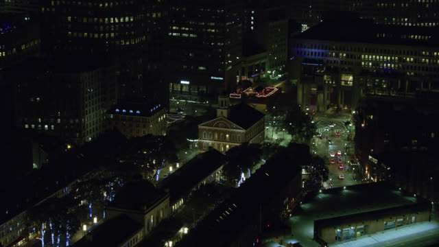 zooming in shot of the faneuil hall - boston massachusetts stock videos & royalty-free footage