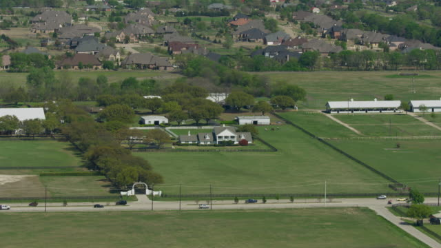 zooming in shot of the southfork ranch - television show stock videos & royalty-free footage