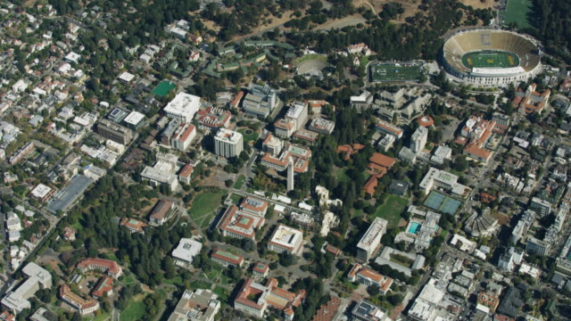 Zooming in shot of the University of California