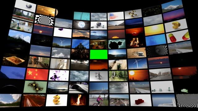 vídeos de stock e filmes b-roll de zoom em chromakey - painel de cristal líquido