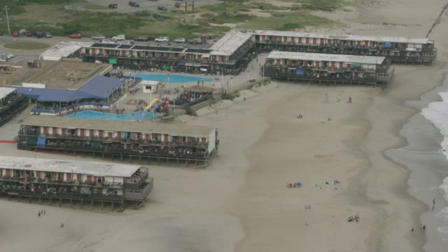 Zooming Out Of Shot The Silver Gull Beach Club Building In Breezy Point Stock Footage Video Getty Images