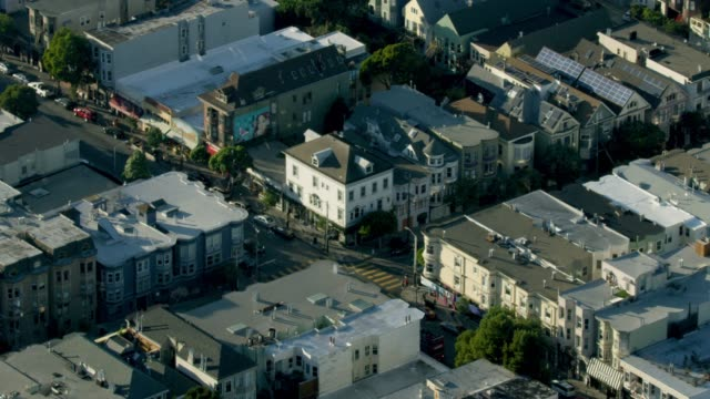 zooming out shot of the corner of the haight and ashbury street - haight ashbury stock videos & royalty-free footage