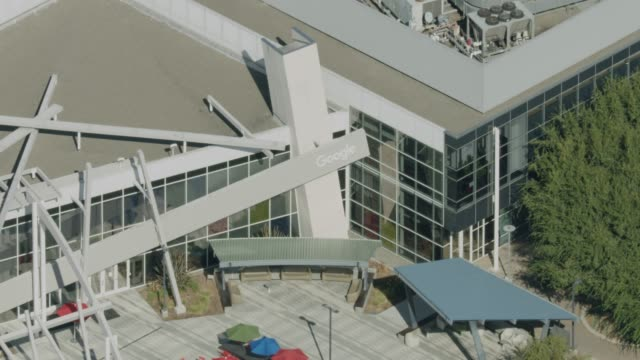 zooming out shot of the googleplex - silicon valley stock videos & royalty-free footage