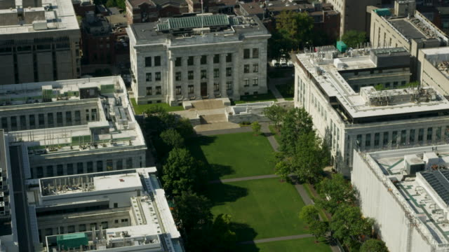 zooming out shot of the harvard medical school - boston massachusetts stock-videos und b-roll-filmmaterial
