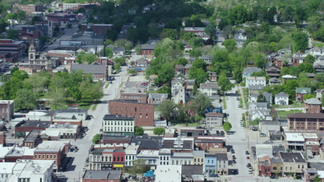 zooming out shot of the trinity episcopal church - missouri stock videos & royalty-free footage