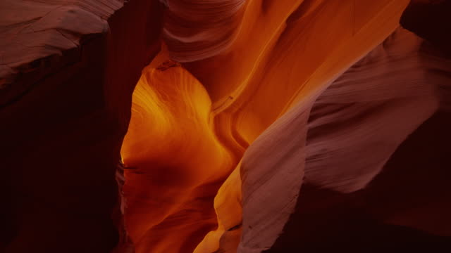 Zooming shot of walls in Canyon X / Canyon X, Arizona, United States,